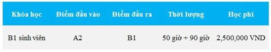 Luyện thi chứng chỉ B1 sinh viên