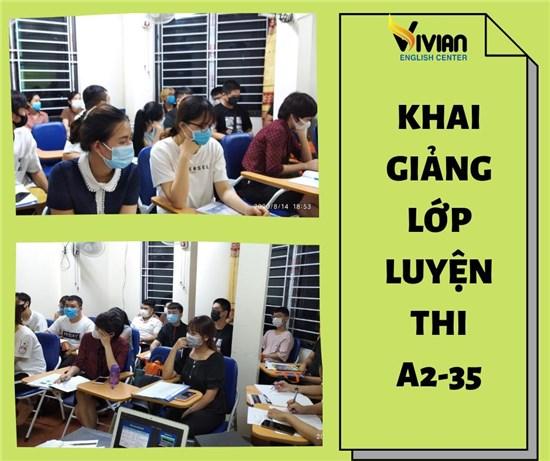Lớp luyện thi chứng chỉ tiếng Anh A2-35 Hà Nội