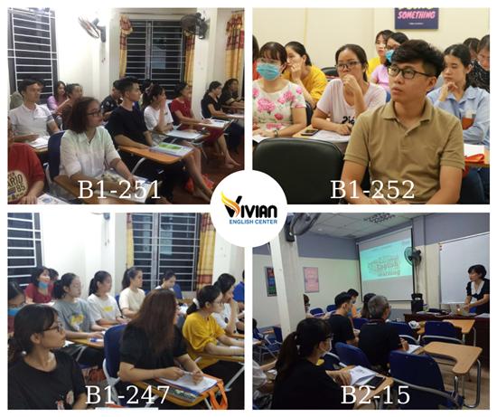 Lớp luyện thi tiếng Anh B1, B2 tại VIVIAN tháng 09 năm 2020