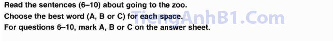 Đề thi tiếng Anh A2 đọc phần 2 hướng dẫn